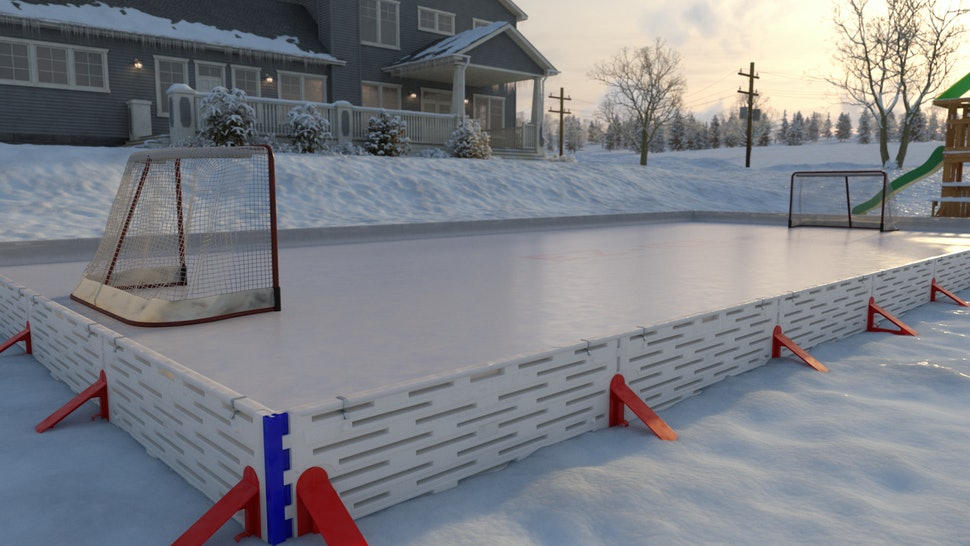 This Backyard Ice Rink You Can Assemble In 60 Minutes Is ...