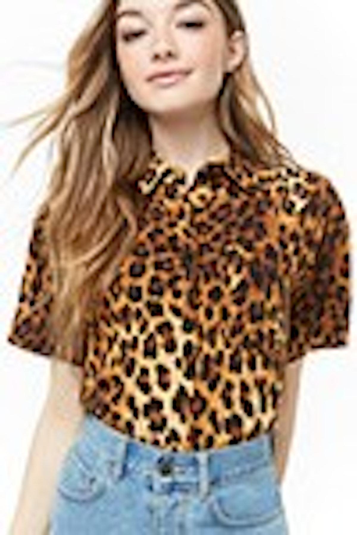 Forever 21 Leopard Print Shirt
