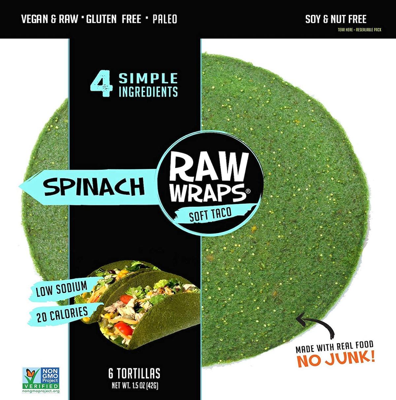 Raw Wraps All-Natural Soft Taco Wraps