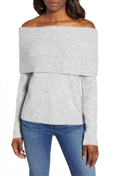 Caslon Convertible Cowl Neck Sweater