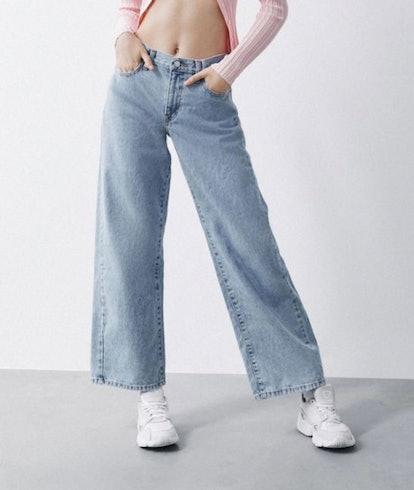 BDG Baggy Low-Rise Wide Leg Jean