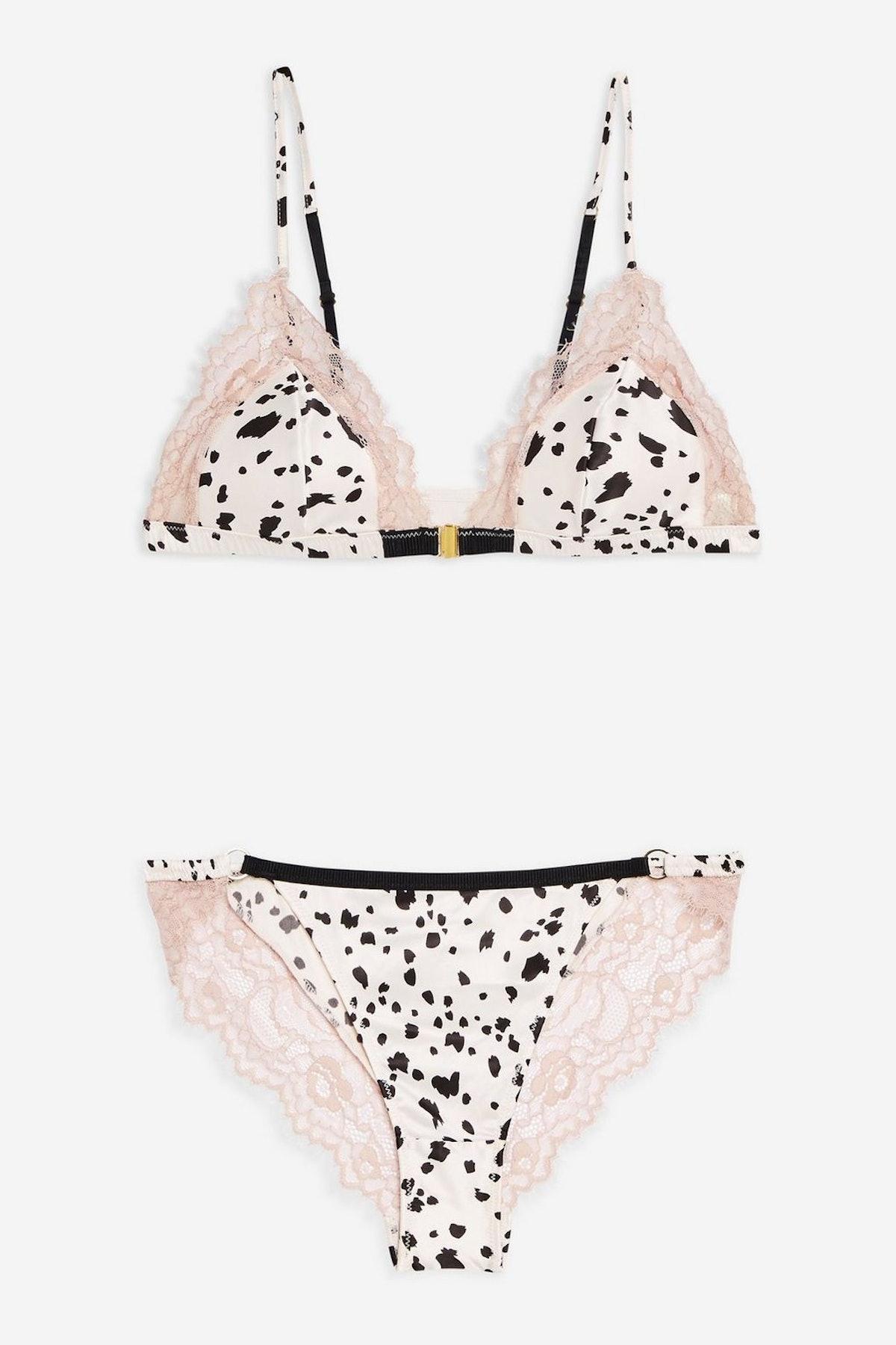 Satin Dalmation Underwear Set