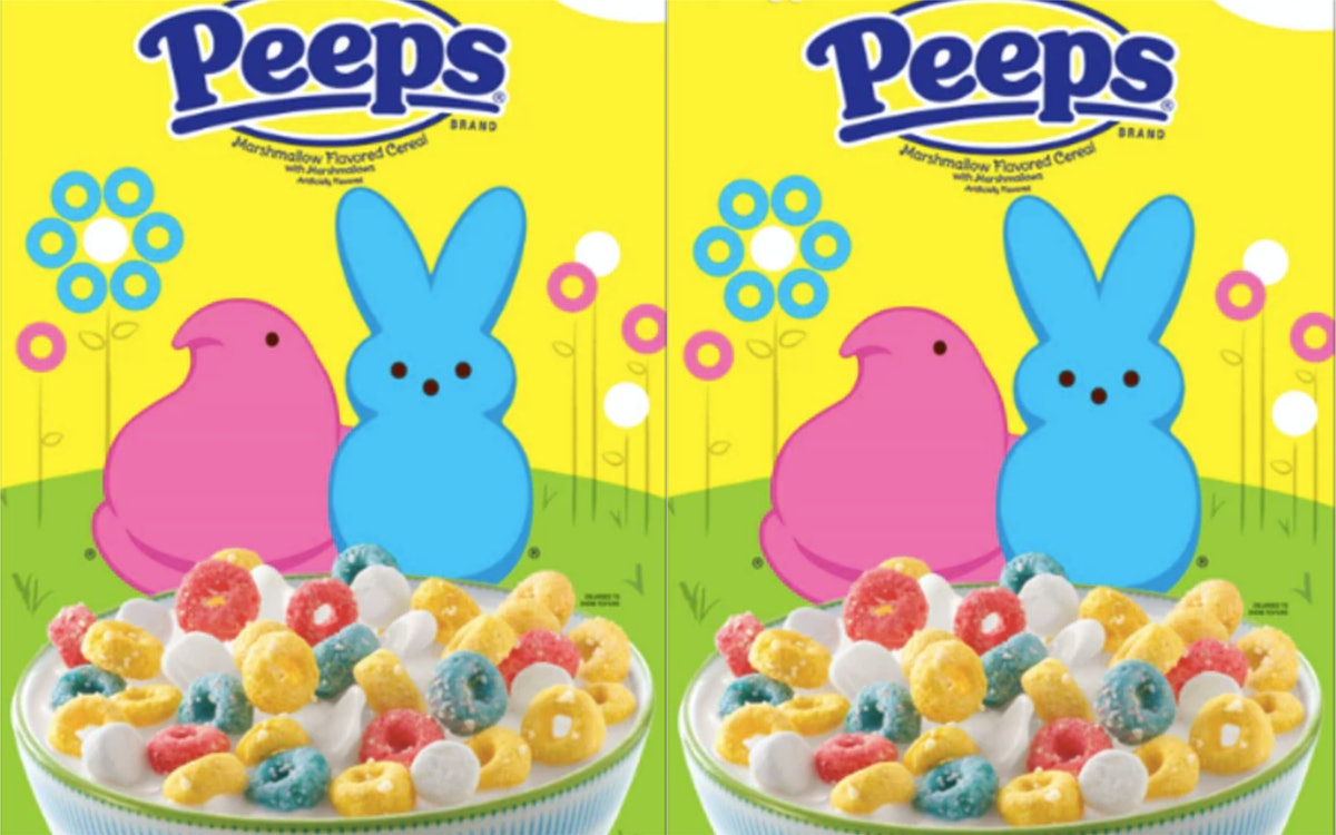 Peeps Cereal Just Hit Target & It Comes In Perfect Springtime Colors