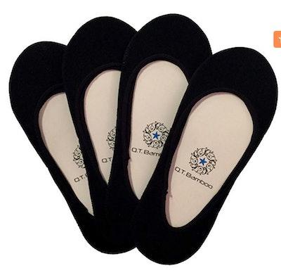 Q.T. Bamboo No-Show Socks (4 Pairs)