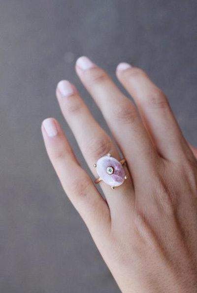 Mond - Pink Tourmaline Ring