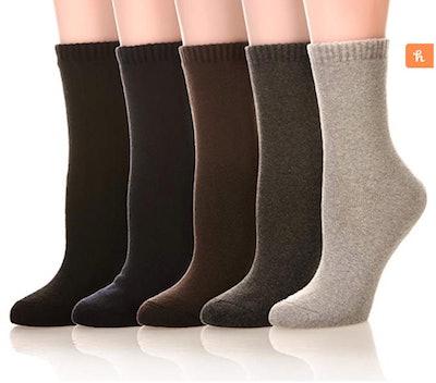 SDBING Women's Dress Socks (5 Pairs)