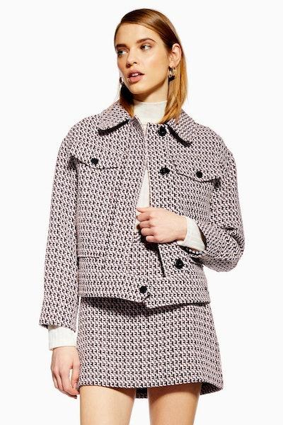 Textured Boucle Suit