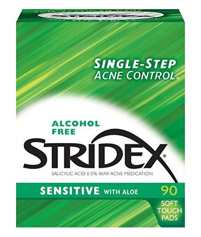Stridex Medicated Pads, Sensitive Skin