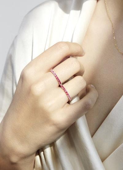 Éternal Pink Ombré Double Ring