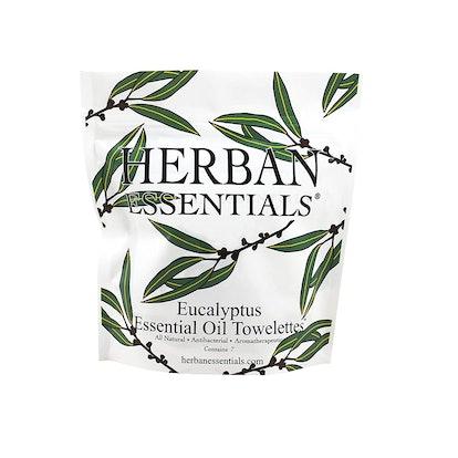 Herban Essentials Eucalyptus Essential Oil Towelettes