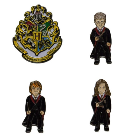 Harry Potter 4-Pack Hogwarts Crest & Characters Pin Set