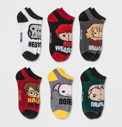 Harry Potter Women's Six Pack Low Cut Casual Socks