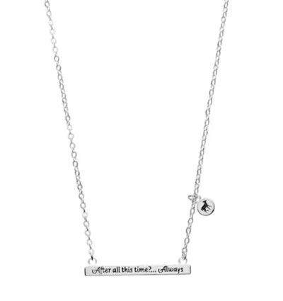 """Harry Potter """"After All This Time"""" Bar Necklace"""