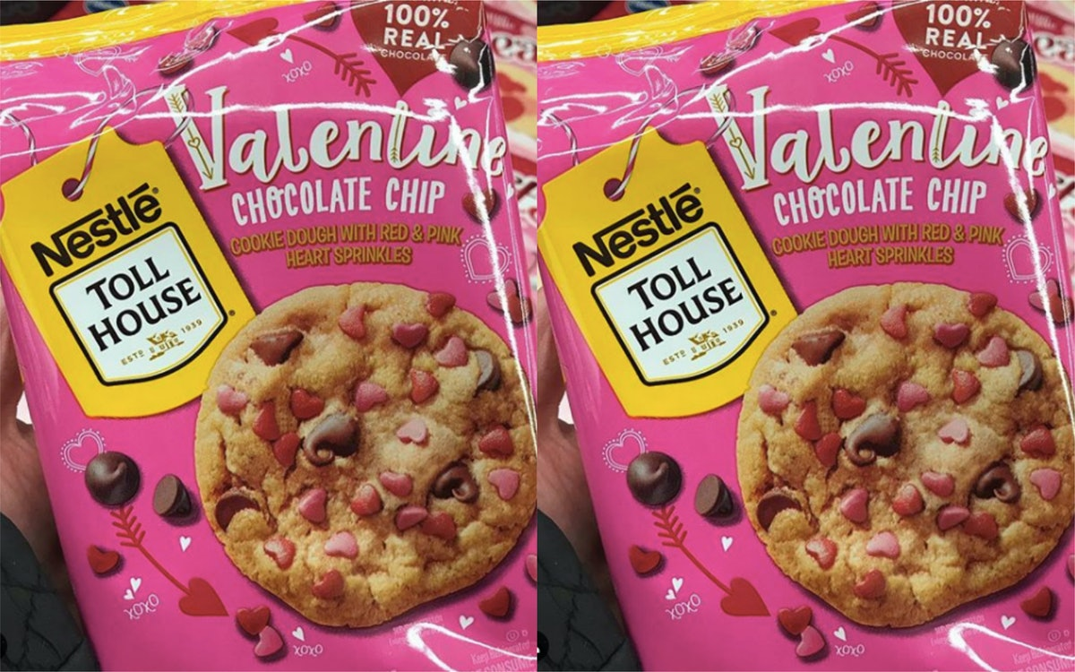 Valentine Chocolate Chip Cookie Dough From Nestle Toll House Is Officially Adorable As Heck