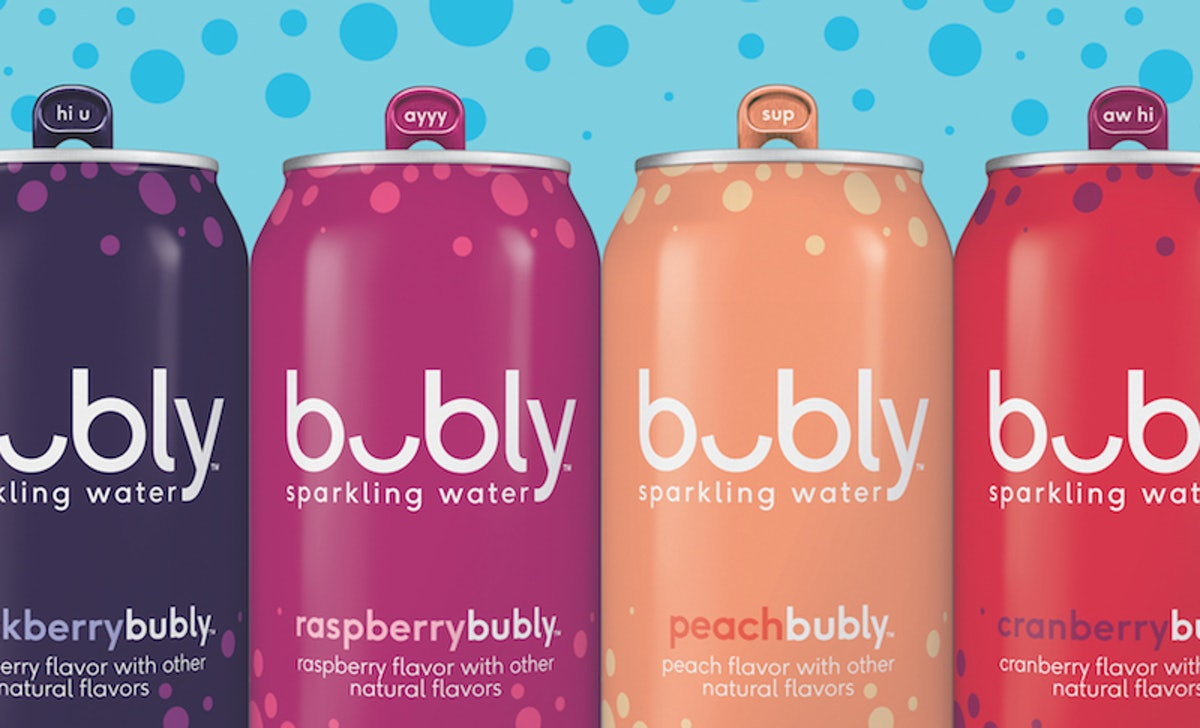 These New Bubly Sparkling Water Flavors Include Summery Classics Like Raspberry & Peach
