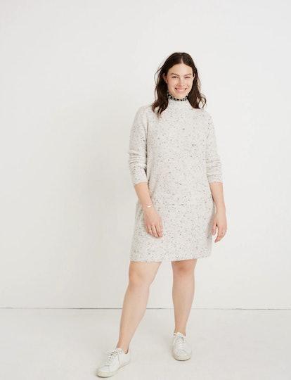 Donegal Northfield Mockneck Sweater-Dress in Coziest Yarn