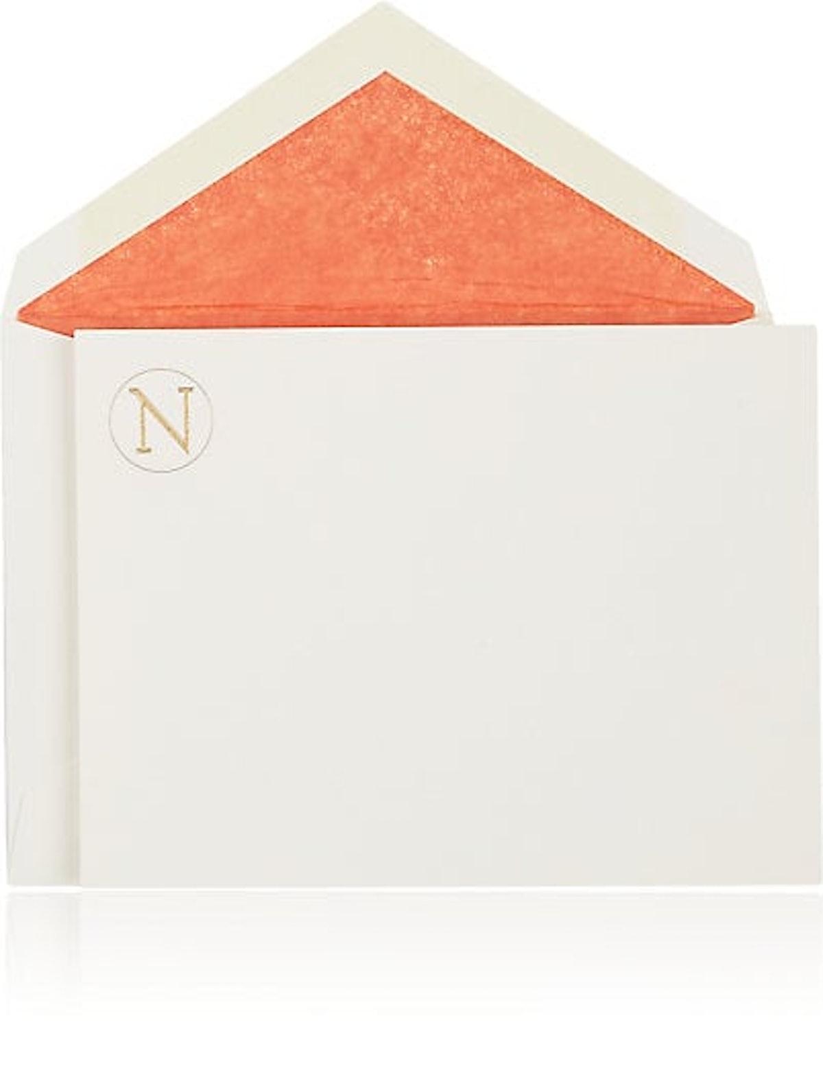 Connor Monogrammed Notecard Set