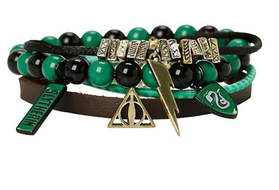 Harry Potter Slytherin Bracelet Four Pack