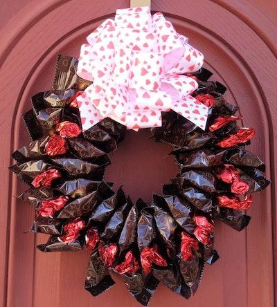 Dark Chocolate Lover Valentine's Day Wreath