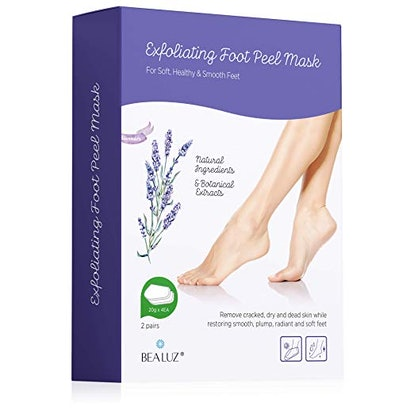 Bealuz Exfoliating Foot Peel Mask, 2 Pack