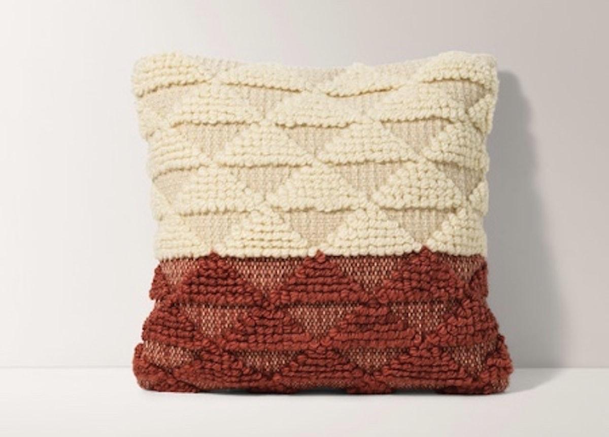 Burrow Terracotta Geometric Pillow