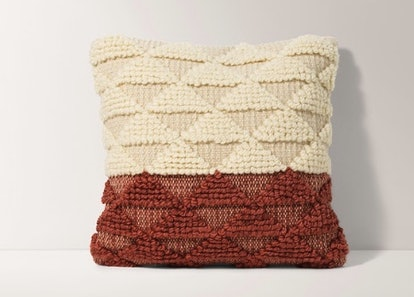 Burrow Terracotta Geometric Pillow