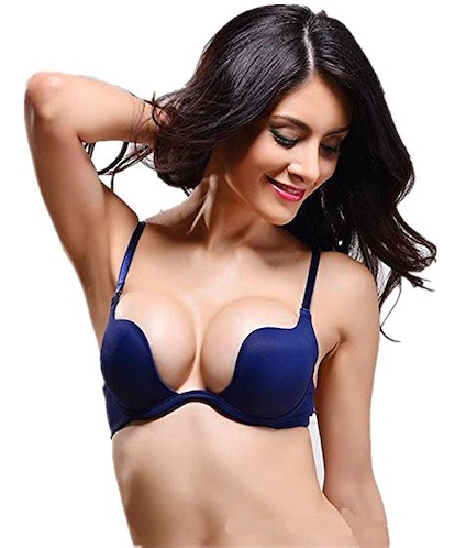 Nature Essentials Deep U Multi-Way Plunge Bra (Sizes 32A-38D)