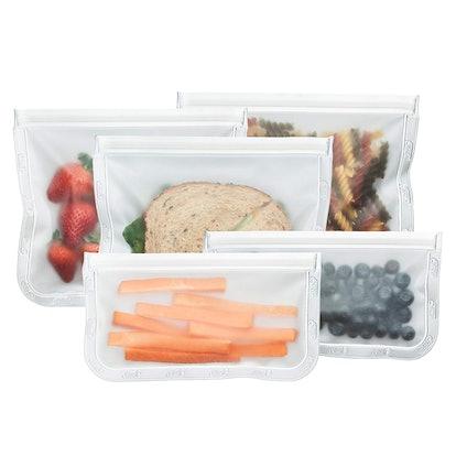 BlueAvocado Reusable Food Storage Bag Kit (5 Pack)