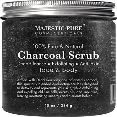 Majestic Pure Activated Charcoal Body and Facial Scrub