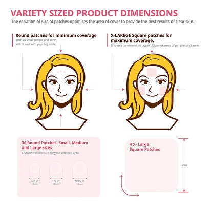 Avarelle Hydrocolloid Acne Cover Patches