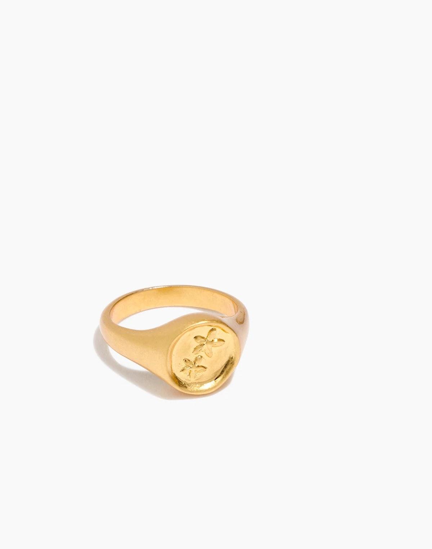Posy Signet Ring
