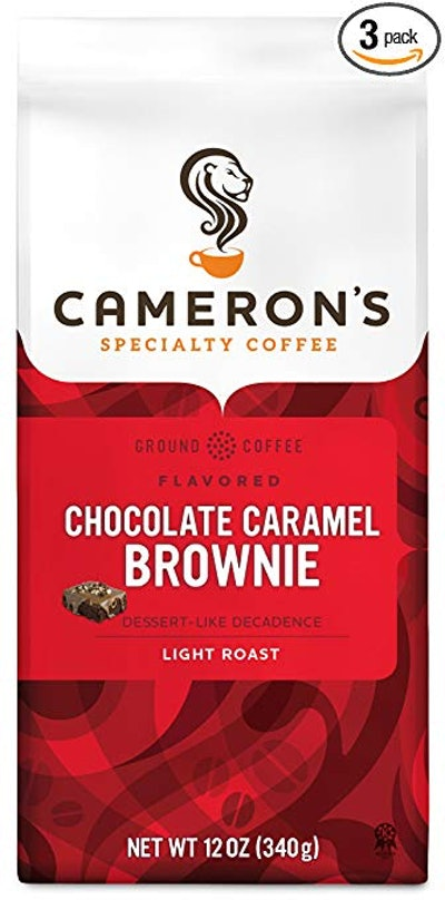 Cameron's Coffee Roasted Ground Coffee Bag, Flavored, Chocolate Caramel Brownie