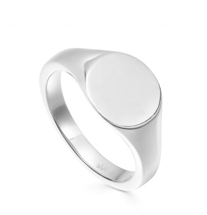 Engravable Round Signet Ring