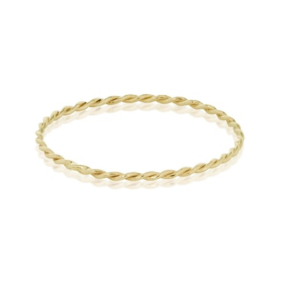 Ultra Fine Gold Twist Ring