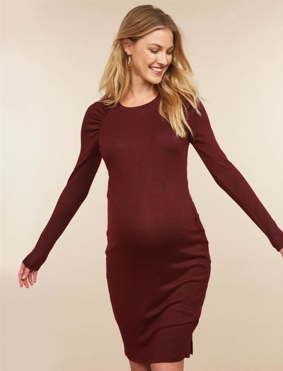 Raglan Sleeve Maternity Sweater Dress