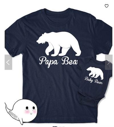 BoooTees Papa Bear Matching Shirts