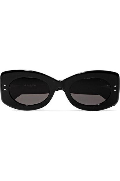 Square-Frame Studded Acetate Sunglasses