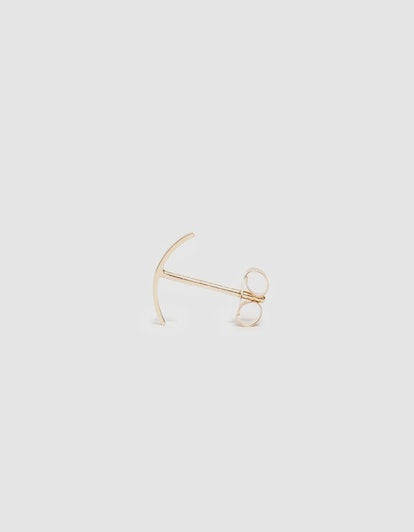 Single Gold Stitch Earring