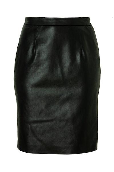 Leatherette Pencil Skirt