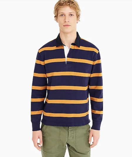 Rugby Shirt in Thin Stripe