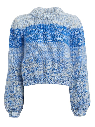 Hand Knit Lapis Blue Striped Sweater