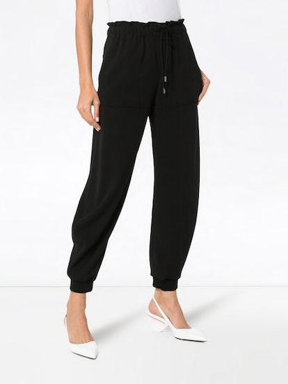 Drawstring Wool Track Pants