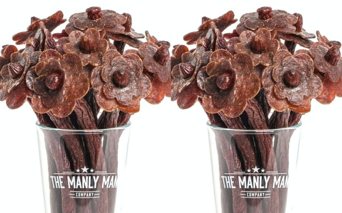 This Beef Jerky Valentine's Day Bouquet Is The Ideal Gift For The Meat Lover In Your Life