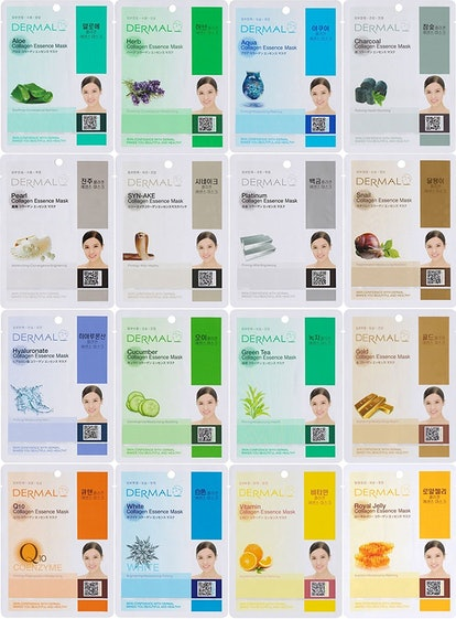 Dermal Korea Collagen Essence Mask Set (16 Pack)