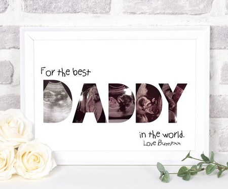 Hanging Monkey Art's Best Dad In The World Personalized Photo Collage