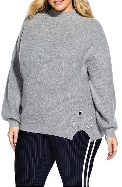 Cross Hem Sweater