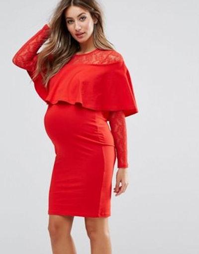 Ruffle-front mini dress