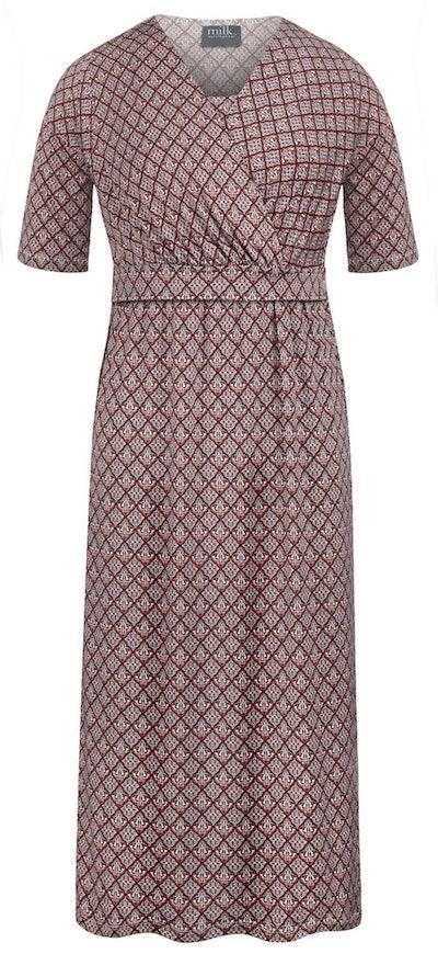 Crossover nursing dress