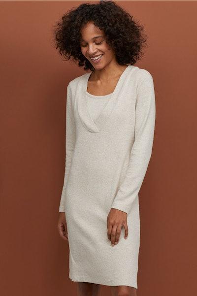 Nursing sweater dress