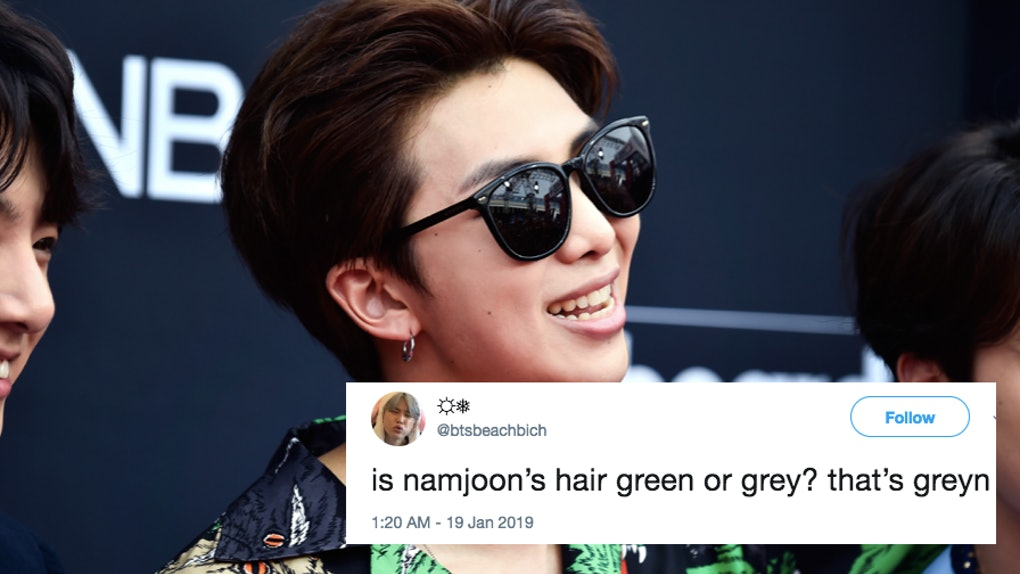 RM From BTS' New Hair Color In Singapore Is Playing Tricks